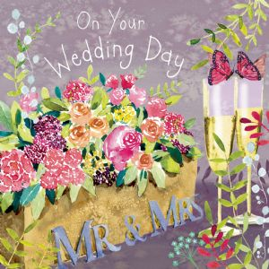 FIZ83  Wedding Day Card Mr & Mrs